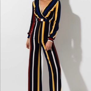 JUST IN TIME STRIPED JUMPSUIT